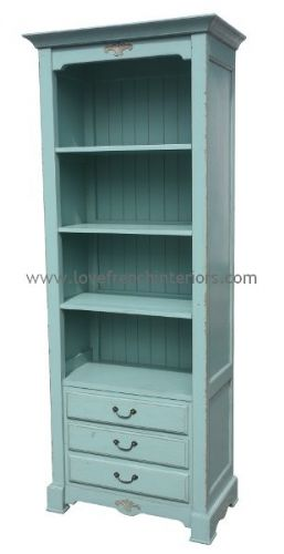 French Blue Cabinet or Bookcase 1